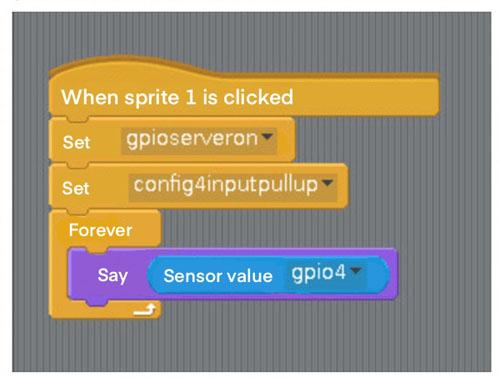 set input GPIO to Pullup