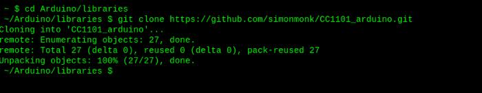 Git clone Arduino library