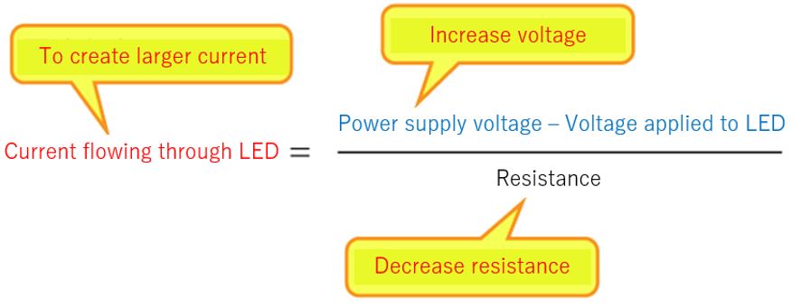 logic behind creating larger current