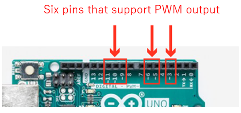 pins that support PWM output