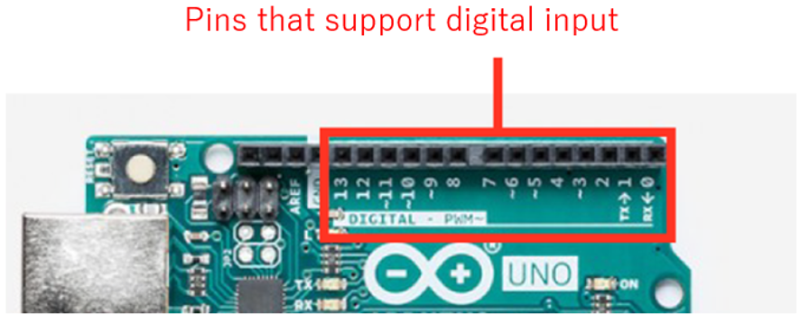 Pins that support digital imput
