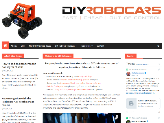 DIY Robocars website
