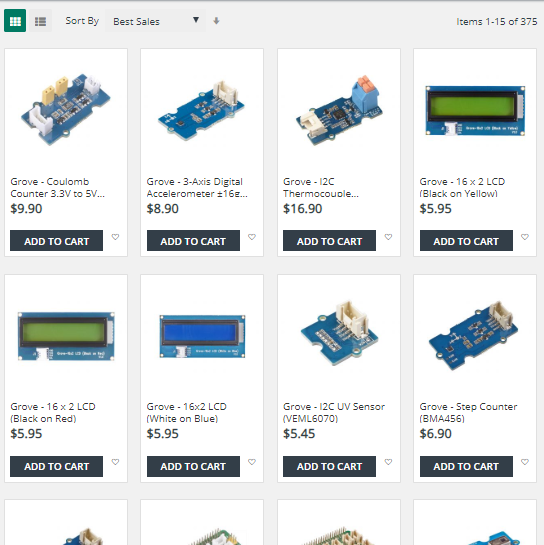 lineups of grove sensors