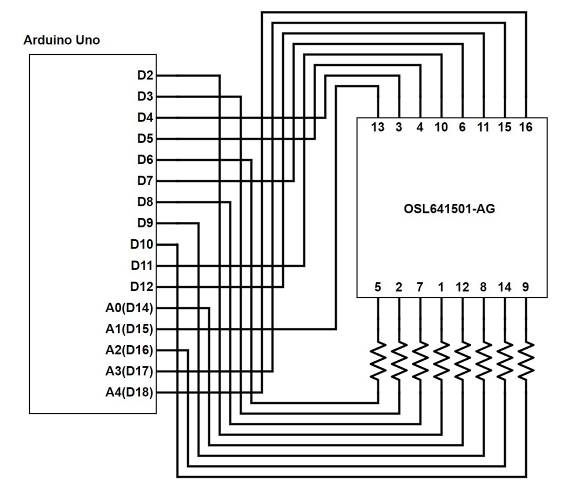 Circuit with dot matrix LED